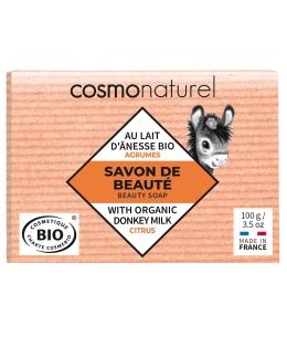 Cosmo Naturel - Savon au lait d'ânesse aux huiles essentielles d'Agrumes - 100 gr