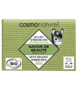 Cosmo Naturel - Savon au lait d'ânesse à l'huile essentielle de Verveine - 100 gr