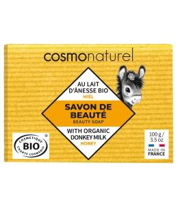 Cosmo Naturel - Savon au lait d'ânesse sans Parfum au Miel - 100 gr