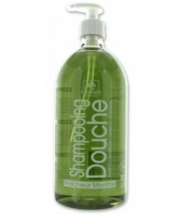 Naturado - Shampoing douche fraîcheur Menthe - 1 litre