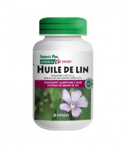 Nature's Plus - Huile de Lin - 30 capsules
