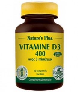 Nature's Plus - Vitamine D3 400 - 90 comprimés