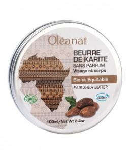 Oleanat - Beurre de karité extra pur Bio équitable sans parfum - 100 ml