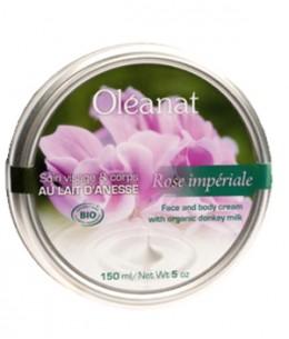 Oleanat - Baume de soin visage et corps au lait d'ânesse et Rose Impériale - 150 ml