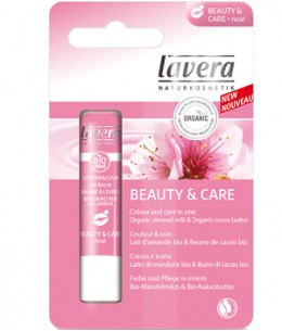 Lavera - Baume à lèvres Amande Beurre de Cacao Beauty and Care Rosé - 5 gr