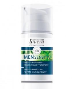 Lavera - Crème hydratante Men Sensitiv Ginkgo et Bambou - 30 ml
