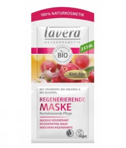 Lavera - Masque Visage Anti Rides Cranberry et Argan - 10 ml