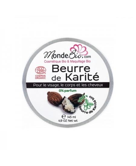 Le Monde du Bio - Beurre de Karité bio - 145 ml