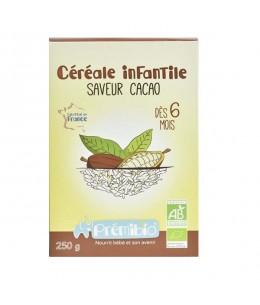 Prémibio - Céréale infantile saveur Cacao dès 6 mois - 250 gr