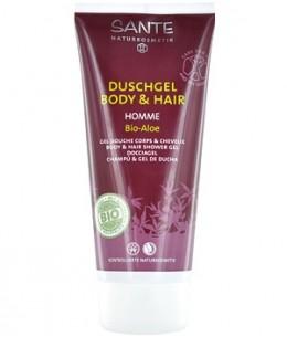 Sante - Gel douche corps et cheveux Homme Aloé - 200 ml