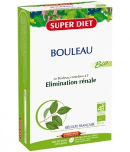 Super Diet - Bouleau Bio Drainage Elimination  - 20 ampoules de 15ml