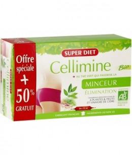 Super Diet - Cellimine Bio au thé vert - 20 + 10 ampoules OFFERTES
