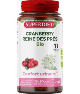 Super Diet - Cranberry bio reine des prés - 90 Gélules