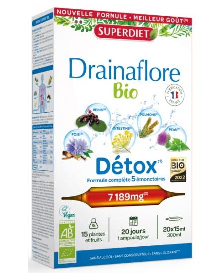 Super Diet - Drainaflore bio - 20 ampoules