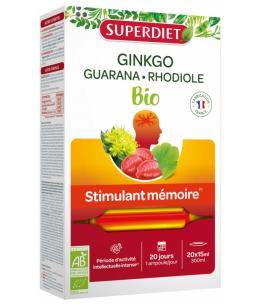 Super Diet - Ginkgo + Ginseng Bacopa - 20 ampoules de 15ml