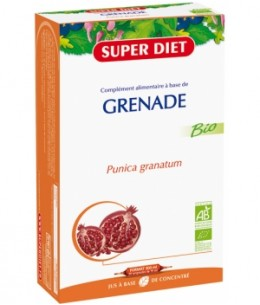 Super Diet - Jus à base de concentré de Grenade - 20 ampoules de 15ml