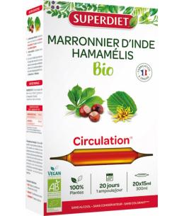 Super Diet - Marronnier d'Inde Hamamélis Bio - 20 ampoules de 15ml