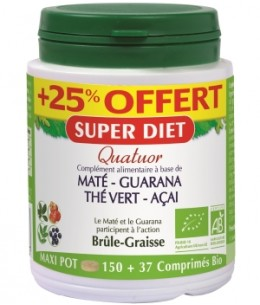 Super Diet - Quatuor brule graisse - 150 comprimés +25% gratuit