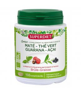 Super Diet - Quatuor Maté Guarana Thé vert Acaï brule graisse - 150 comprimés