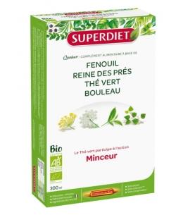 Super Diet - Quatuor Thé vert Minceur Bio - 20 ampoules de 15ml