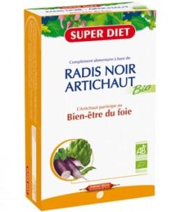 Super Diet - Radis noir Artichaut Bio - 20 ampoules de 15ml