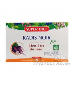 Super Diet - Radis Noir Bio - 20 ampoules de 15 ml