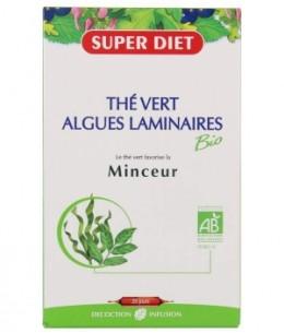 Super Diet - Thé Vert Algues Laminaires Bio Minceur - 20 ampoules de 15ml