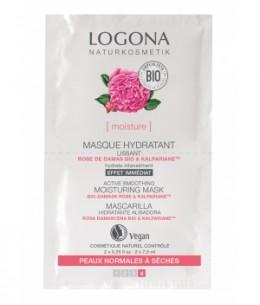Logona - Masque hydratant lissant rose de Damas bio / Kalpariane - 15 ml