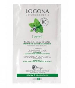 Logona - Masque nettoyant et clarifiant menthe bio / Acide salicylique 2 x 7,5 - 15 ml