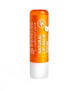 Benecos - Baume à lèvres Orange - 4 gr