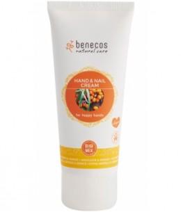 Benecos - Crème mains et ongles Argousier et Orange - 75 ml