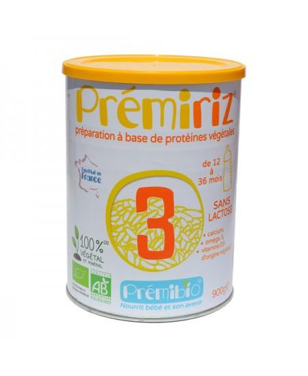 Prémibio - Lait infantile PrémiRiz 3ème âge Croissance - 900 gr