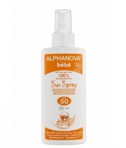 Alphanova - Spray solaire sans parfum pour bébé très haute protection SPF50 - 125 gr