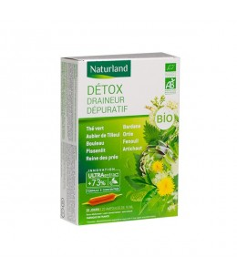 Naturland - Extrait Fluide - Detox Bio - Aux 9 Plantes