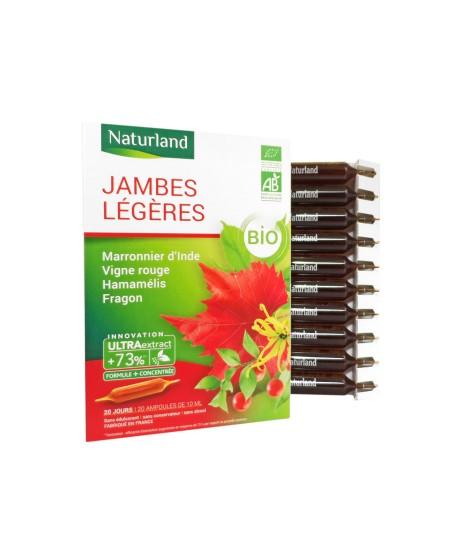 Naturland - Extrait Fluide Bio - Marronnier d'Inde, Hamamelis, Vigne Rouge, Fragon