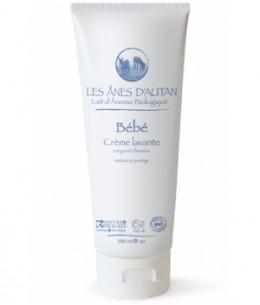 Les Anes d'Autan - Crème lavante bébé au lait d'ânesse cheveux et corps - 200 ml