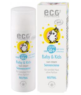 Eco Cosmetics - Crème solaire bébé indice 50+ neutre peaux très sensibles sans parfum - 50 ml