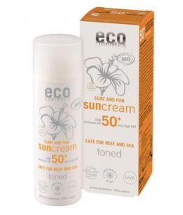 Eco Cosmetics - Crème Solaire indice 50+ SURF et FUN Grenade et Macadamia - 50 ml