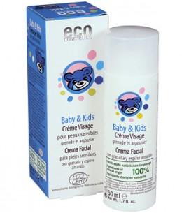 Eco Cosmetics - Crème visage bébé enfant Argousier et Grenade - 50 ml