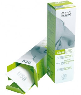 Eco Cosmetics - Emulsion démaquillante 3 en 1 Thé vert et Myrte - 125 ml