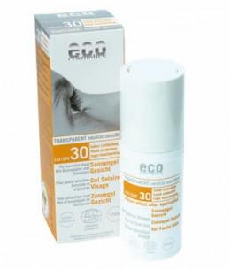Eco Cosmetics - Gel Solaire Visage indice 30 peaux sensibles - 30 ml