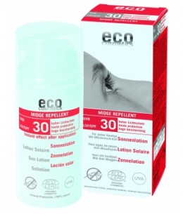 Eco Cosmetics - Lotion Solaire indice 30 Anti Moustiques - 100 ml