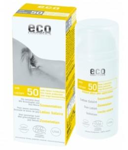Eco Cosmetics - Lotion Solaire indice 50 Grenade et Baies de Goji - 100 ml