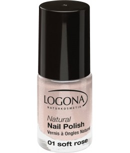 Logona - Vernis à ongles naturel 01 soft rose - 4 ml