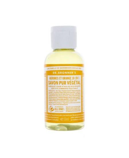 Dr Bronners - Savon liquide aux Agrumes Orange - 59 ml