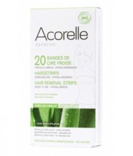 Acorelle - Bande de cire froide Aisselles et Maillot - 20 bandes