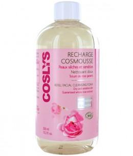 Coslys - Recharge Cosmousse visage peau sensible nettoyant à la Rose - 300 ml