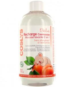 Coslys - Recharge du Cosmousse bébé à l'Abricot - 300 ml