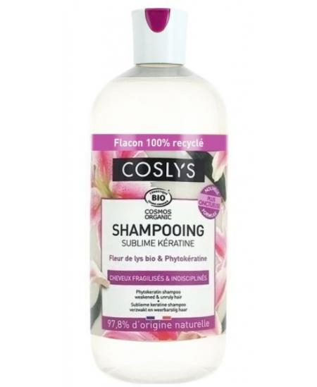 Coslys - Shampooing Kératine cheveux fragiles et indisciplinés - 500 ml