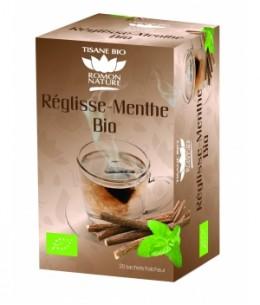Romon Nature - Infusion plaisir Réglisse Menthe bio - 20 sachets